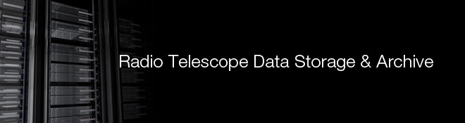 Radio Telescope Data Storage & Archive Banner
