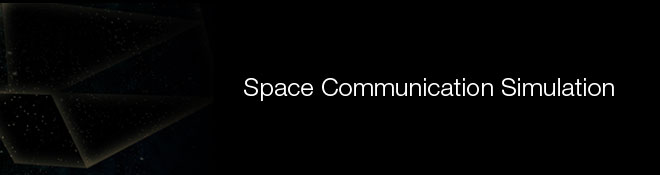 Space Communication Simulation Banner